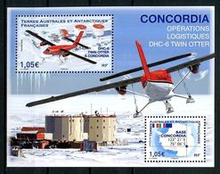 TAAF 2020  N° F925 ** ( 925/926 ) Neufs MNH Superbes Base Concordia Avions Planes DHC-6 Twin Otter Carte - Nuovi