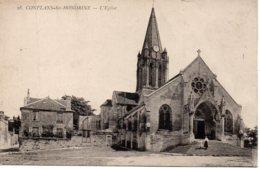 Cpa Conflans Ste Honorine, Panorama, L'église. - Conflans Saint Honorine