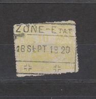 COB 124 Oblitération Centrale ZONE-ETAT - Bahnwesen