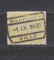 COB 124 Oblitération Centrale NIEUPORT-VILLE - Bahnwesen