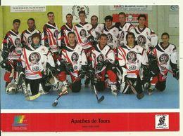 SPORTS Apaches De Tours Hockey Sur Glace Saisons 2007 / 2008 Guilhem BRUEL Moreau Trouillebout Paître Paul Laurent Bruel - Sports D'hiver