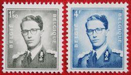 1.5+4 Fr Koning Boudewijn Phosphoriserend 1953 1966 OBP 924 P3 926 P3 (Mi 973 Y 974 Y) POSTFRISMNH ** BELGIE BELGIUM - Unused Stamps