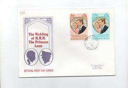 MK838 - BRITISH ANTARTIC TERRITORY 1973 Marriage Anna FDC (2380A) - FDC