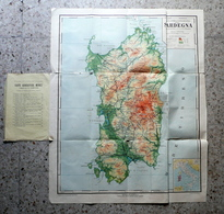 Sardegna Carte Fisiche Corografiche Regioni Italia 1914 Scala 1:300000 Ghisleri - Altre Collezioni