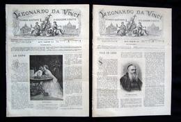 Due Numeri Leonardo Da Vinci Anno VIII 1885 Numero 13 24 Busto Arsizio Incisioni - Libri, Riviste, Fumetti