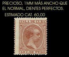 C00269 CUBA 1896-97. ALFONSO XIII (EL PELÓN). 1 Mm MAYOR QUE LO NORMAL - Kuba (1874-1898)