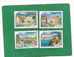 ITALIA REPUBBLICA - UNIF. 2088.2091 - 1993 TURISTICA  - NUOVI **(MINT) - 1991-00: Mint/hinged