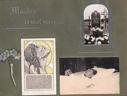 PHOTO POST MORTEM DAME EMMA BONTE + PHOTO DE LA TOMBE + IMAGE DE DECES - AVEC RESPECT - Oud (voor 1900)
