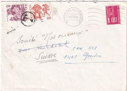 FRANCE 1978 LETTRE DD PARIS TAXEE EN SUISSE - 1971-76 Maríanne De Béquet