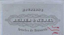 Traite 1880 / Houblons / REIBER & NEBEL / Bière / 67 Strasbourg / Pour Brasserie Lemaire Fontenoy Le Château 88 - France