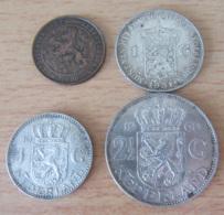 Achat Immédiat - Pays-Bas / Nederland - 4 Monnaies (3 Argent) : 2 1/2 Gulden 1960, 1 Gulden 1931, 1955, 2 1/2 Cent 1905 - Netherlands