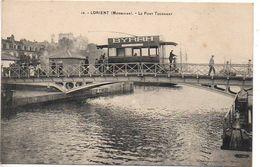 Lorient : Le Pont Tournant (Tramway Avec Publicité BYRRH) - Lorient