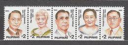 Filipinas - Correo 1993 Yvert 1976/80 ** Mnh  Personajes - Philippines