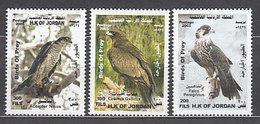 Jordania - Correo 2003 Yvert 1619/21 ** Mnh  Fauna Aves - Jordanie