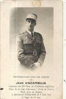 JEAN  D'AZAMBUJA .TUE PAR LES ANGLAIS . CAPITAINE TIRAILLEURS ALGERIENS . LIBAN SUD . CARTE SOUVENIR - Guerra, Militari