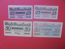 SAARLOUIS 25+25+50+50 PFENNIG(DIFFERENTS) 1920 (B.14) - Collections