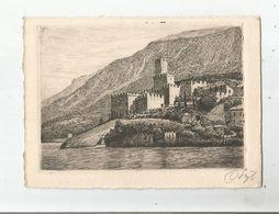 MALCESINE CASTELLO ACQUAFORTE ORIGINALE 3763 - Italie