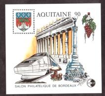 1990 - Feuillet CNEP N° 12 - Neuf ** - Salon Philatélique De Bordeaux - Aquitaine - TGV - CNEP