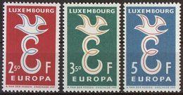 LUXEMBURG 1958 Mi-Nr. 590/92 ** MNH - CEPT - Europa-CEPT