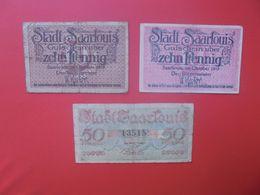 SAARLOUIS 10+10+50 PFENNIG 1919 (B.14) - Collections