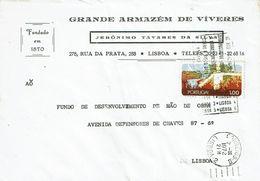 Mechanical Postmark  ZONAS POSTAIS , 1972 ,  JERÓNIMO TAVARES DA SILVA  Cover , Nature Protection  Stamp - Postmark Collection