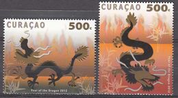 Antilles/Curacao  2012 Year Of The Dragon  Michel  81-82  MNH 27950 - West Indies