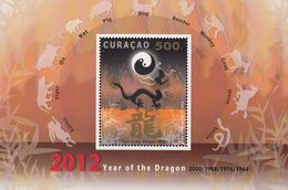 Antilles/Curacao  2012 Year Of The Dragon  Michel  Bl.5  MNH 27951 - West Indies
