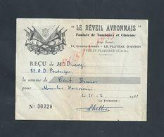 REÇU ILLUSTRÉE DU LE RÉVEIL AVRONNAIS FANFARE DE TAMBOUR & CLAIRON LE PLATEAU D AVRON X NEUILLY PLAISANCE 1951 : - France