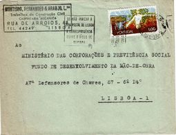 Mechanical Postmark  ZONAS POSTAIS , 1972 ,  MONTEIRO FERNANDES & ARAUJO   Cover , Nature Protection  Stamp - Postmark Collection