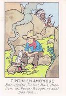 CPM TINTIN - EN AMERIQUE - ED. ARNO 50 - Stripverhalen