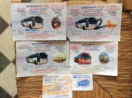 6 TICKETS TRANSPORT BUS CAMBODGE  Travel Tickets - Wereld