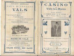 CASINO DE VALS LES BAINS . DEPLIANT - Programmi