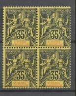 SPM 1900 BLOC De 4 N°76 35 C Noir S. Jaune N** Gomme Tropicale TB. A1131 - Nuevos