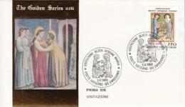 Vaticano 1989 Uf. 860 Festa Visitazione Miniature FDC Prime Die Golden Series - Religious