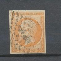 France Classique Napoléon N°16 40c Orange Pâle TB. B605 - 1853-1860 Napoléon III