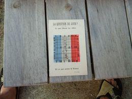 WW1 - 1914 -18  CARTE PATRIOTIQUE A SYSTEME DE LECTURE  CE QUE DISENT LES ALLIERS CE QUE PENSE LE KAISER - Patriotiques