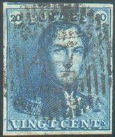 N°2 - Epaulette 20 Centimes Bleue, Margée Et Voisin, Obl. D.47RANCEidéalement Apposée. -TB - 15738 - 1849 Epaulettes