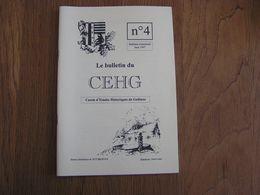 CEHG Revue N° 4 Gedinne Régionalisme Ardenne Rienne Kermesse Louette Saint Denis Poêles Cuisinières Languillier Poêle - Belgium