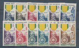 Colonies Françaises Série Des Médailles 12 Valeurs Neuf Luxe ** H2265 - France (ex-colonies & Protectorats)
