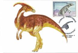 MAX 45 - 147 PARASAUROLOPHUS, Prehistoric Animal, Romania - Maximum Card - 2000 - Timbres