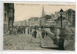 44 NANTES Carte RARE Les Quais De L'Erdre Pont Hotel De Ville Charette Anim No 266 Edit M.B  - 1910  D16 2020 - Nantes