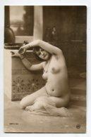 NU French Charm 122 Jean  AGELOU JA Série 64   Jeune Femme Nue Assise  Orientalisme  Voile  Salle Bain - EROTISME - Fine Nudes (adults < 1960)