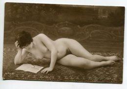 NU French Charm 126 Jean  AGELOU JA Série 83 Jeune Femme  Nue Face En Lecture Allongée Sur Tapis EROTISME - Fine Nudes (adults < 1960)