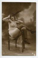 NU French Charm 133 Jean  AGELOU GA Série 170 Jeune Femme Chapeau  Fauteuil  Bas Noirs Fesses Poitrine Dénu - EROTISME - Fine Nudes (adults < 1960)