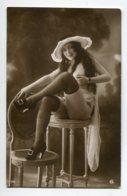 NU French Charm 132 Jean  AGELOU GA Série 159 Elegante  Jeune Femme Chapeau Bas Noirs  Touchant Poitrine  EROTISME - Fine Nudes (adults < 1960)