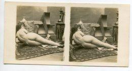 NU French Charm 129 Jean  AGELOU JA Série 138 FERNANDE ? STEREO  Orientalisme Femme Allongée Tapis Dos Fesses EROTISME - Fine Nudes (adults < 1960)