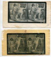 NU French Charm 143 Jean  AGELOU SN STEREO 103 Et 104 2 Tirages Papier Bromure Jeunes Filles Nues Toilette   EROTISME - Fine Nudes (adults < 1960)