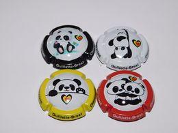 Série De 4 Capsules De Champagne - GUILLETTE BREST (Panda) Numéroté 250 Ex. - Champán