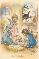 Germaine Bouret. La Nativite Ange Enfant De Noël Old Postcard  EAeC Paris. 1955 - Bouret, Germaine