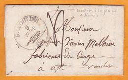 1839 Lettre Pliée Avec Correspondance De St Hilaire Remoulins Grand Cachet, Vers Apt, Vaucluse Grand Cachet - 1801-1848: Voorlopers XIX